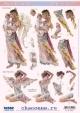 Аппликация бумажная вырубная для объемных рисунков Ангел-страж, ангел утренней зари 210х297 мм